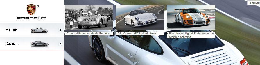Website Porsche Brazil